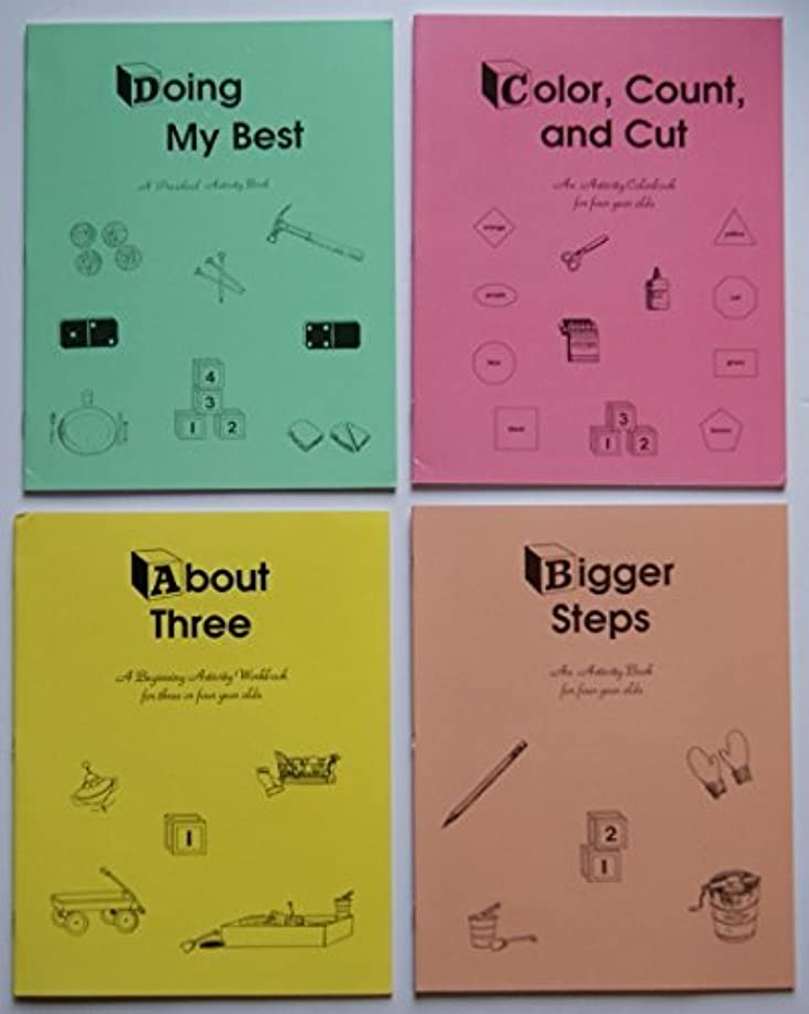 公然とブリードパラメータRod and Staff Homeschool Preschool Activity Workbooks- Set of 4 (for 3 & 4 Year Old Children) [並行輸入品]