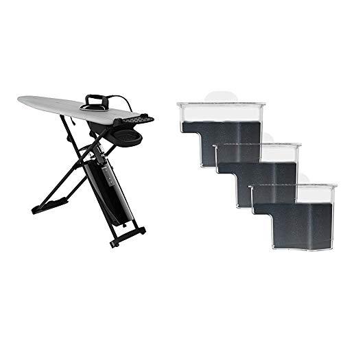 Laurastar Smart M & 606.7830.750 Kalkschztzkartuschen zur Wasserfilterung 3er Set, Schwarz, Transparent