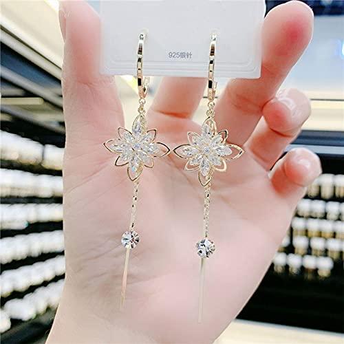 YONGYAN Long Earrings for Women Super Fairy Leaf Earrings Female 2021 New Simple and Cool Style Niche Design Earrings (Color : A)