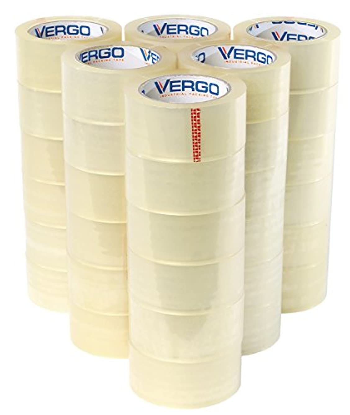 Vergo Industrial Heavy Duty Clear Packing Tape 2.7mil for Moving Packaging Shipping and Office (36 Pack)