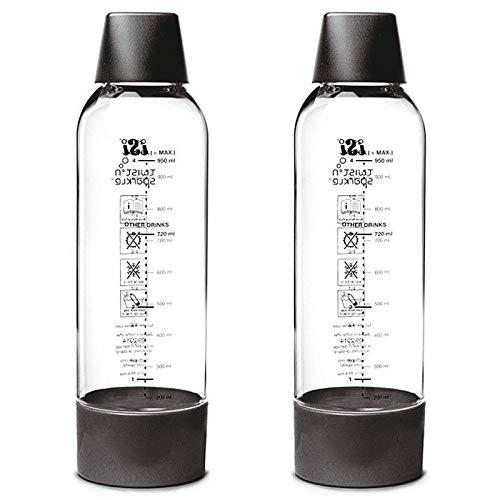 PADERNO - 2 Bottiglie Twist & Sparkle Pet, ABS, Silicone, INOX