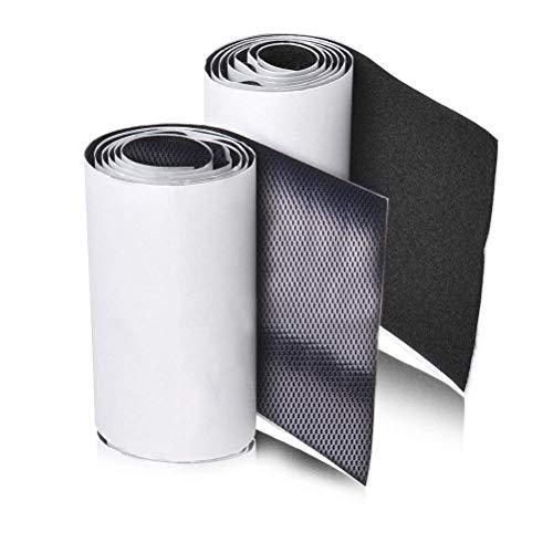 11cm (4.3Inch) Ancho 1 metros largo Juego sistema de enganche y sujeción auto adhesivo con reverso súper adherente Tela de nylon sujetadora Negro
