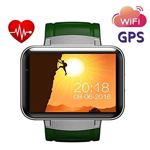 KDSFJIKUYB Smartwatch DM98 Bluetooth Smart Uhr 2.2 Zoll Android OS 3G Smartwatch Telefon MTK6572 Doppelkern 1,2 GHz 512 MB RAM 4 GB ROM Kamera GPS-Uhr, Grün