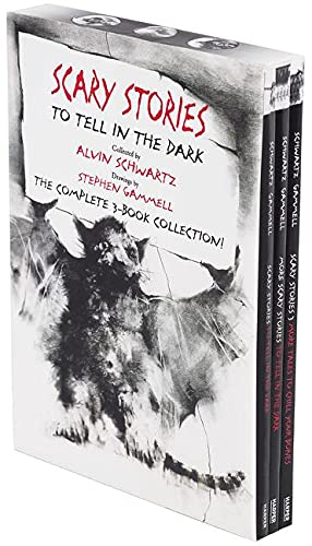 Compare Textbook Prices for Scary Stories Paperback Box Set: The Complete 3-Book Collection with Classic Art by Stephen Gammell Illustrated Edition ISBN 9780062682895 by Schwartz, Alvin,Gammell, Stephen