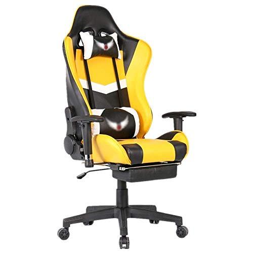ykw 360 Grad drehbarer Schwerer liegender Stuhl mit hoher Rückenlehne Home Office Computer-Spieltische und Stühle zum Arbeiten