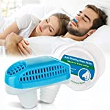 Anti Snoring Devices,Snoring Solution Nasal Dilator Nose Vents Plugs Clip Stop Snoring Aids 2-in-1 Snore Stopper Reduce Snoring Sleeping Aid Device for Ease Breathing Comfortable Sleeping