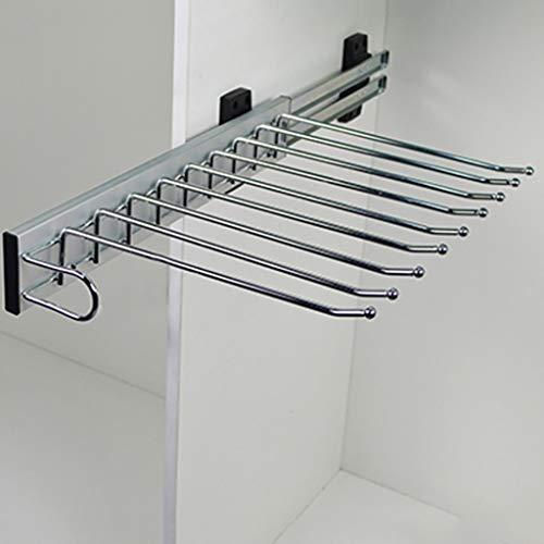 FKKleiderstangen Ausziehbarer Hosenhalter, ausziehbarer Krawattenhalter-Aufhängeschiene, 9 Paar Hosenaufhänger für Garderobe (47 cm)