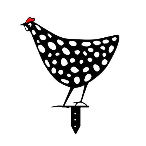 FUNCOCO Pila de Silueta, Gallo Silueta de Animal Pila de Sombra Decoración Estaca Jardín Decoración de jardinería Silueta de Pollo - Forma 4