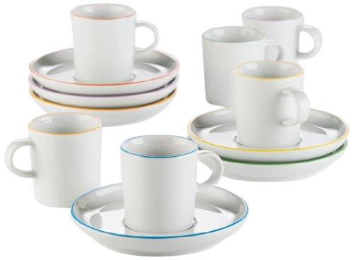 Arzberg Form Cucina Colori Espressoset 12-tlg. -Sondersortierung-