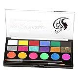 F Fityle 18 Farbpalette Schminkset, Kinderschminke, Schminkpalette, Gesichtsfarben, Körperfarbe, Schminkfarben mit Pinsel für Kinder Erwachsene