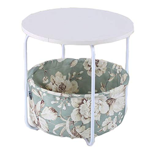 Litet soffbord enkla mini litet vardagsrum soffa sido hörnskåp modern säng rundabords (Size : A)