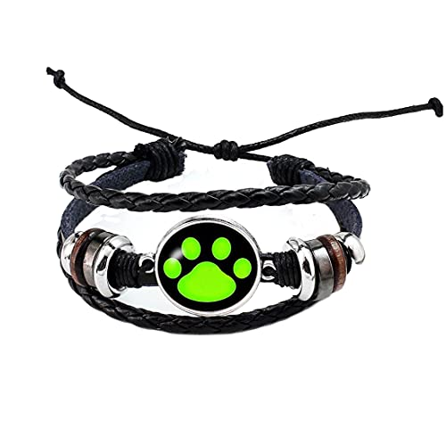 Pulsera con estampado de patas, pulsera de perro, pulsera de perro, pulsera personalizada para...