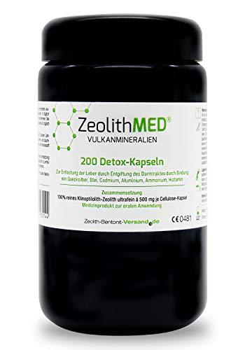 Zeolith MED® 200 Detox-Kapseln im Miron Violettglas, CE zertifiziertes Medizinprodukt