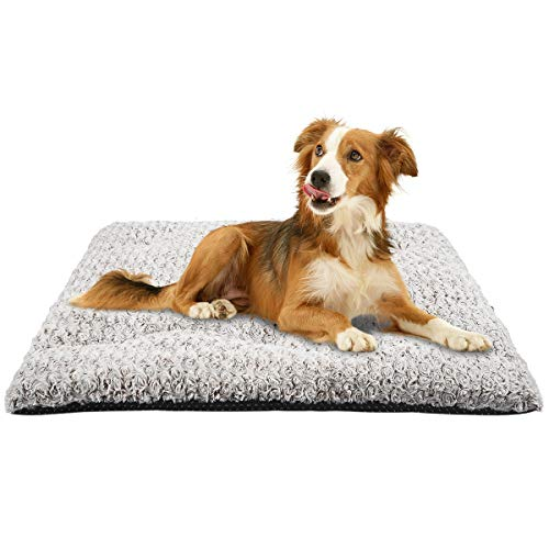 MIXJOY Dog Bed Crate Pad Soft Washable Anti-Slip Kennel Mat for Large Medium Small Dogs and Cats (29'' x 21'') Beds
