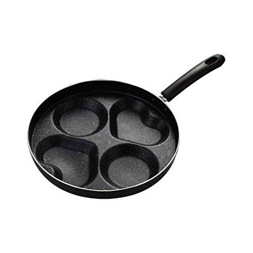 ECSWP Aleación de aluminio Sartén - Negro puro de cuatro agujeros Sartén tortilla máquina, antiadherente for hornear Pan hogar utensilios de cocina