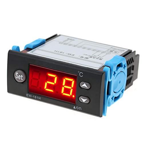 Termostato de pantalla digital Controlador de temperatura -45 ℃ ~ 80 ℃ Termostato preciso 10A / 220V / AC con medidor de control de temperatura de sonda para refrigeración