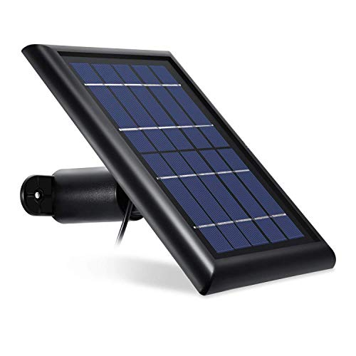 [Updated Version] Wasserstein Solar Panel Compatible with Arlo Pro, Arlo Pro 2 - Power Your Arlo Surveillance Camera continuously (Black)