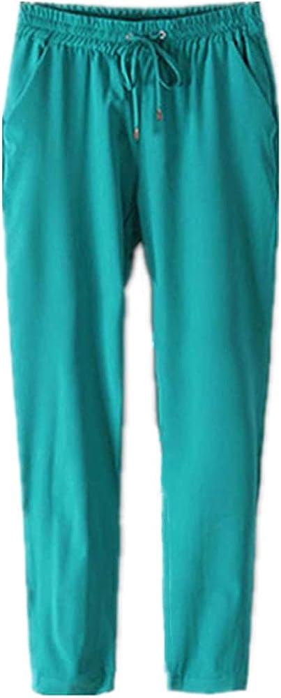 Summer Chiffon Women's Nine-Point Pants Plus Size Loose Thin Linen Casual Pants