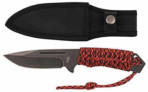 Fox Outdoor Messer Redrope, groß, Stonewashed, Griff umwickelt