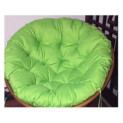 BBZZ - Cuscino per sedia a forma di uovo, rimovibile, rotondo, con imbottitura per sedia papasan, per lavandino nel nostro spesso e comodo papasan, diametro 130 cm, colore: verde chiaro