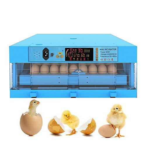 JHKGY Incubadora De Huevos,Nacedora De Aves De Corral con Volteo Automático De Huevos,Mini Incubadora De Huevos De Gallina,para Pollos/Patos/Gansos/Palomas/Codornices,36 Egg