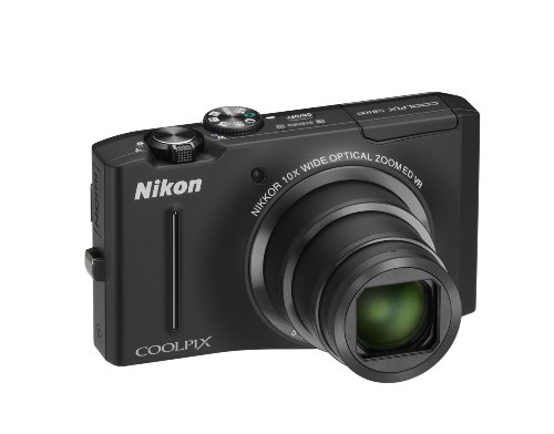 Nikon Coolpix S8100 Digitalkamera (12 Megapixel, 10-fach opt. Zoom, 7,5 cm (3 Zoll) Display, Full-HD Video, bildstabilisiert) schwarz