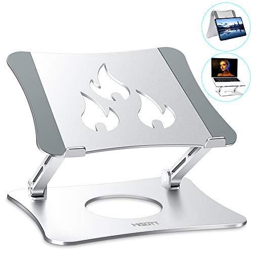 MISOTT Supporto PC Portatile, Supporti per Notebook Regolabile Ergonomico in Alluminio, Supporto per Laptop per Laptop/Tablet (10-15.6 Pollici) Inclus