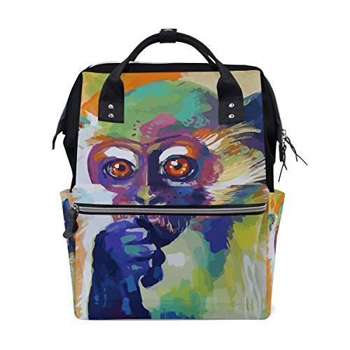 NHJYU Art Cool Monkey Origin Travel Rucksack Large Nappy Wickeltasche Laptop Rucksacks for Women Men