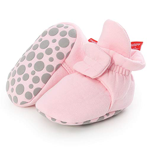 Sawimlgy Newborn Infant Baby Girl Boy Cotton Booties Soft Stay On Sock Slippers Grippers Winter Shoes Baby Gift Stuff