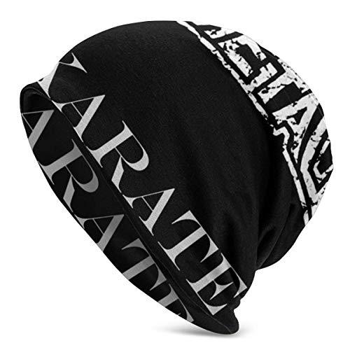 rouxf Adult Herren Warm & Soft Hat Pullover Cap Babymetal - Karate Langlebige Strickmütze für Herren & Damen Schwarz