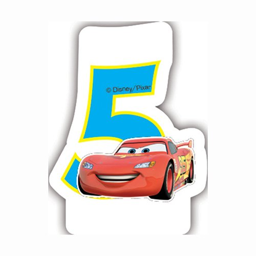 Pixar Neon Disney Cars Bougie d'anniversaire 5