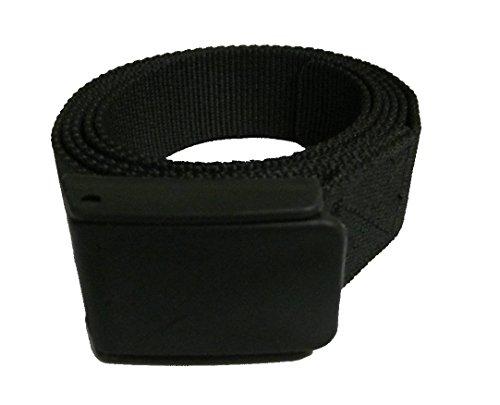 Easy Belt. Der bequeme Reisegürtel aus Kunststoff für den raschen Check In am Flughafen. (L/XL 120 cm, schwarz blank)