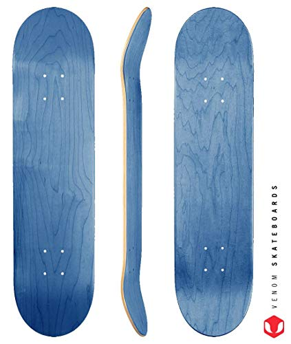 Venom Skateboards tabla de skate Pro, 3 tamaños, color azul, azul