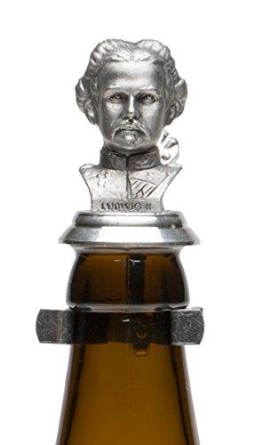Schnabel-Schmuck Diseño de Pico de-Joyas Rey Luis de Cerveza con Tapa de estaño de Peluche de estaño para Botellas de Vino