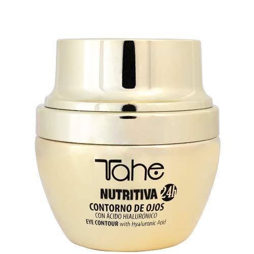 Tahe Nutritiva 24 H Crema Ligera de Contorno de Ojos Mujer con Ácido Hialurónico Efecto Reafirmante y Luminoso, 30 ml