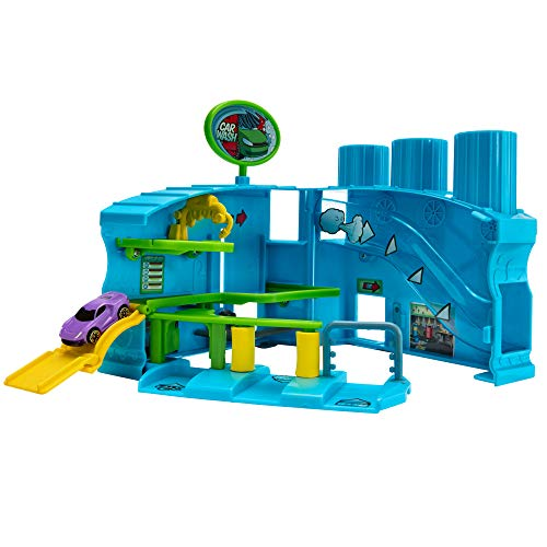 Micro Machines Core Playset, Car Wash Station - Expandable and Connectable to Other MM Sets, Includes One Exclusive Vehicle - Collect Them All