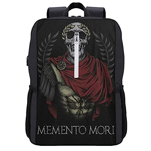Warrior 12 Memento Mori Schoolbag USB Backpack USB backpack Water Resistant Anti-Theft Bag Computer Business Backpacks for Women Men College School Student Gift,Casual Hiking Daypack