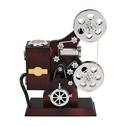 ZHBH Proyector Mini Caja de música Vintage Joyero Mecánico clásico Retroproyector Caja de música Artesanía