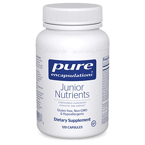 Pure Encapsulations Junior Nutrients   Multivitamin and Mineral Supplement Without Iron for Children Ages 4 and Up*   120 Capsules
