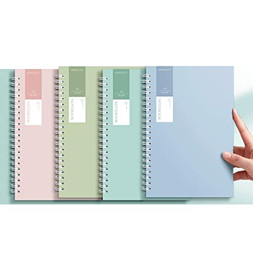 LWSX Cuaderno Horizontal Espiral Bobina Diario Espesado Exquisito Diario Simple Adecuado para Ejercicios, tareas, Notas en el Aula (Color : B, tamaño : A5)