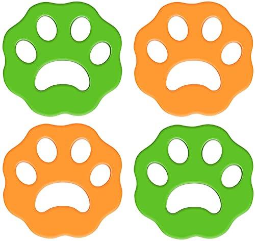 TOCYORIC Removedor de Pelo para Mascotas, 4 Piezas para Lavar la Ropa, Juego de Limpieza para el hogar para Secadora, Bola de Limpieza para Recoger el Pelo de Mascotas