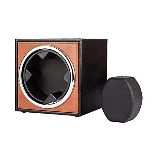 JINGGL Caja giratoria para Relojes Suministro de Reloj mecánico Blaning Caja de bobinado Motion Shaker Watch Winder Holder Pantalla Organizador de Almacenamiento de joyería (Color : Black with Brown)