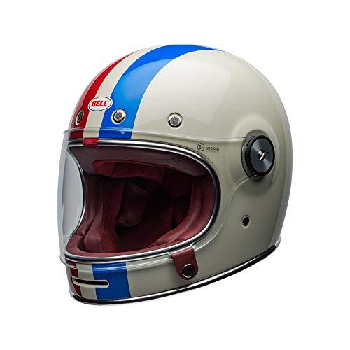 Motodak Helm Bell Bullitt DLX Command Gloss Vintage White/Red/Blue Größe S