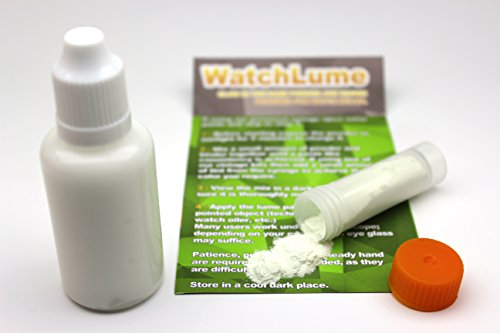 Glow in The Dark WATCH LUME for Watch DIAL and Hand RELUMING. White. 7 Grams. 30ML