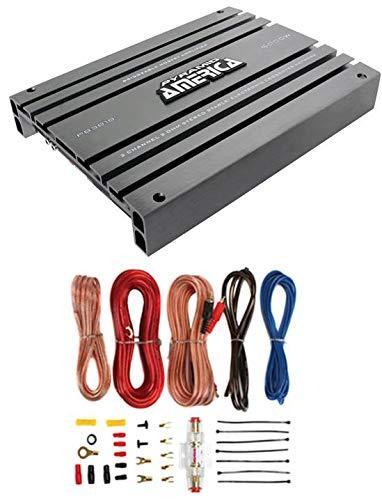 PYRAMID PB918 2000W 2 Channel Car Audio Amplifier Power Bridgeable+8 Ga Amp Kit