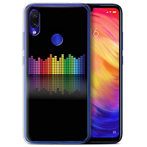 eSwish Carcasa/Funda TPU/Gel para el Xiaomi Redmi Note 7/7 Pro/7S / Serie: Colores Neón - Ecualizador Gráfico EQ