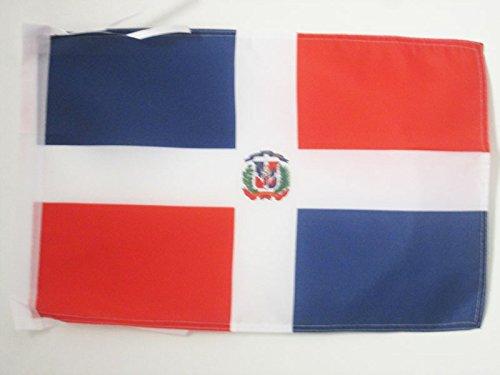 AZ FLAG Bandera de la REPÚBLICA Dominicana 45x30cm - BANDERINA Dominicana 30 x 45 cm cordeles