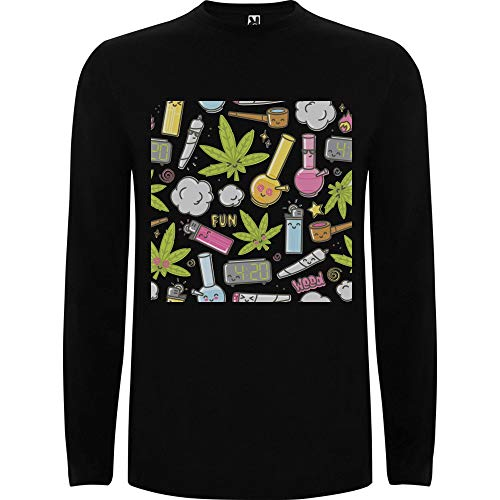 Lilij mannen t-shirt lange mouwen Smoking Party Weed Lover Marijuana Smoking Stuff Relax Sweatshirt Rastaman White