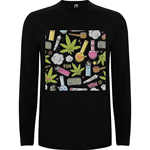 Lilij mannen t-shirt lange mouwen Smoking Party Weed Lover Marijuana Smoking Stuff Relax Sweatshirt Rastaman White