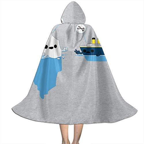 NUJSHF Titanic Rock - Tijeras de Papel Unisex con Capucha, Capa para Halloween, Navidad, Fiestas, Disfraces, Cosplay